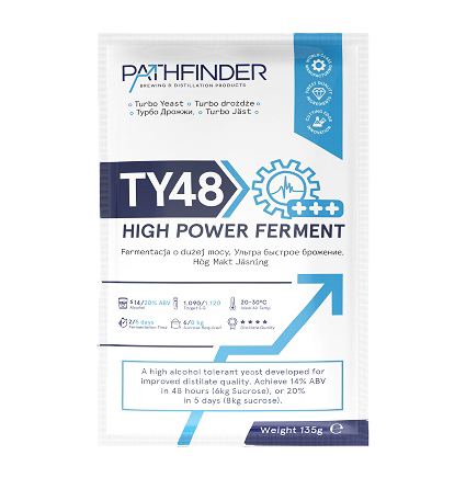 СПИРТОВЫЕ ДРОЖЖИ PATHFINDER 48 TURBO HIGH POWER FERMENT, 135 Г